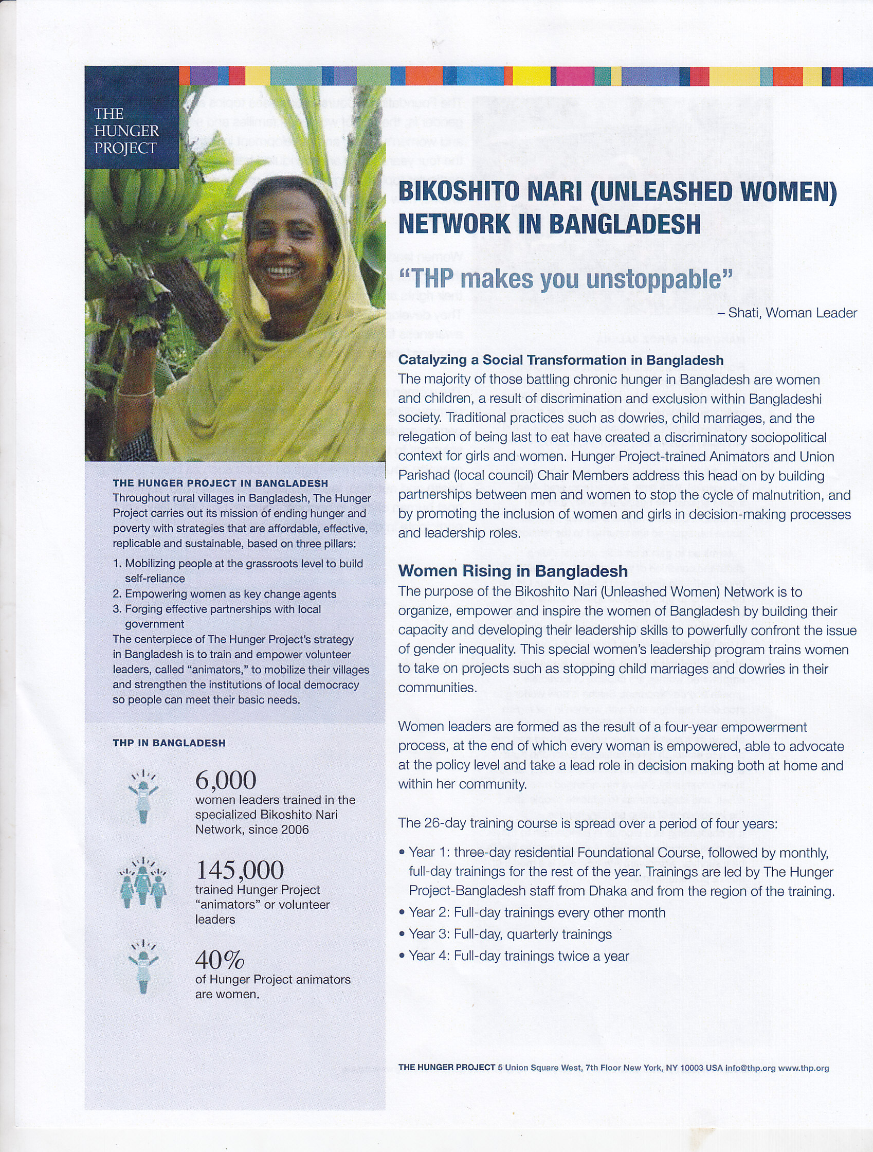 BIKOSHITO NARI (UNLEASHED WOMEN) NETWORK IN BANGLADESH